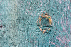Texture of old wood with worn green paint Royalty Free Stock Photos