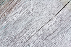 Texture of old wood with worn white paint Stock Images