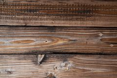 Texture of old wooden boards of brown age aged. Pattern stock image
