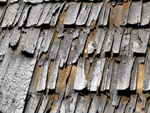 Texture of the old wooden chips Stock Images