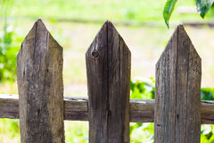 Texture of old wooden fence, closeup Royalty Free Stock Images