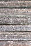 Texture of old wooden lining boards wall Stock Photography
