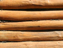 Texture of old wooden logs Royalty Free Stock Photos