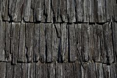 Texture of old wooden roof stock images