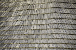 Texture old wooden shingles. stock photo
