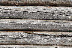 Texture of old wooden wall, logs Royalty Free Stock Photography