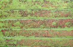 Texture of old wooden walls, painted with green Stock Photography