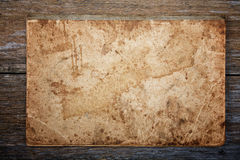 Texture of an old writing-book on an  board Stock Photography
