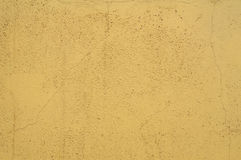 Texture of the old yellow cement wall Royalty Free Stock Photos