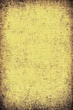 The texture of old yellow paper. Abstract grunge background. Grunge background of old paper for printing on labels, posters, business cards and creating your own Royalty Free Stock Images