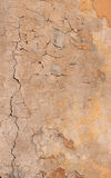 Texture of old yellow stucco wall Stock Photos