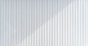 Texture ondulée blanche de mur en métal avec l'ombre de bâti Texture horizontale de fond photos libres de droits