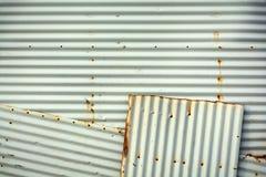 Texture ondulée de fond de mur en métal Photo stock