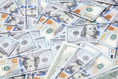 Texture of one hundred US dollars Stock Image