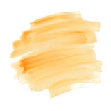Texture orange abstraite d'aquarelle, course de brosse Image stock