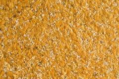 Texture orange abstraite de papier peint décoratif de liquide de plâtre Photos stock