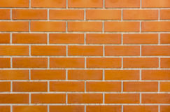 Texture of orange brick wall. Background Royalty Free Stock Photos