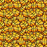 Texture orange brillante d'autocollant de boule de basket-ball sans couture Image libre de droits