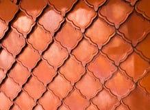Texture orange de fond de toit de brique images stock
