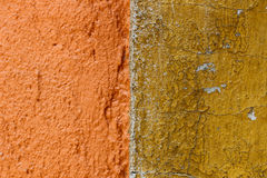 Texture orange de mur Photos stock