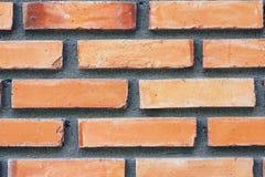 Texture orange de mur de briques Photo libre de droits