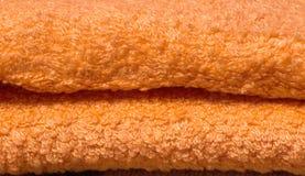 Texture orange de serviette Photographie stock
