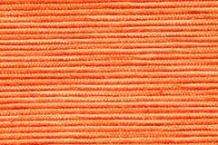 Texture orange de tissu Photos stock