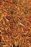 Texture orange des déchets de bois fins Image stock