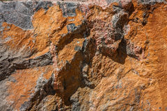 Texture of Orange and Gray Stone Stock Image