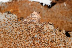 Texture orange rusty metal, old metal and damaged royalty free stock image