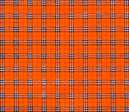 Texture of orange tartan plaid textile fabric Stock Photos