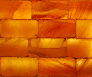 Texture orange transparente de brique Photographie stock libre de droits