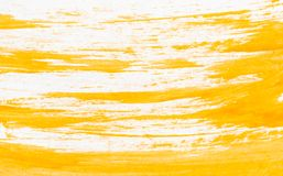 Texture of orange watercolor paint on white paper. Horizontal background with stains of watercolour brush strokes. Rectangular photo stock images