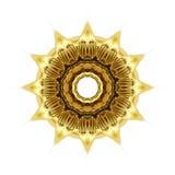 Texture orientale d'ornement d'or Photo libre de droits