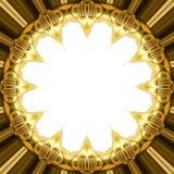 Texture orientale d'ornement d'or Image stock