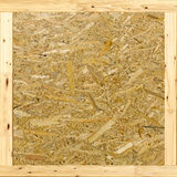 Texture of oriented strand board (OSB) box Royalty Free Stock Photography