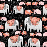 Texture of ornamental elephants Stock Images