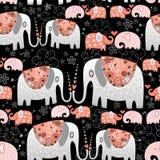 Texture of ornamental elephants Stock Images