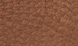 Texture ou fond de cuir de Brown Images libres de droits
