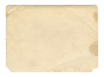 Texture ou fond de papier de brun de style de vintage vieille, avec les bords déchirés inégaux photos stock