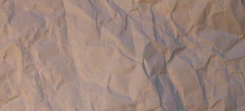 Texture ou fond de papier froissée Images stock