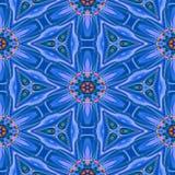 Texture ou fond géométrique bleue abstraite sans couture avec la tache d'huile Photographie stock