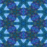 Texture ou fond géométrique comme un verre bleue abstraite sans couture Image stock
