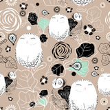 Texture of owls Stock Photography