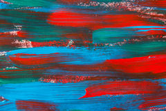 Texture paint background with blue and red strokes Stock Photos