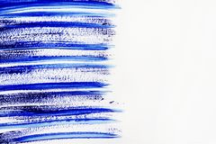 Texture paint on white background. Selective focus. stock photo