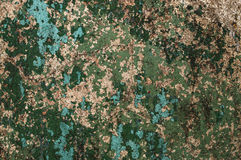Texture painted concrete wall. The surface of the old cracked concrete wall with peeling paint Royalty Free Stock Images