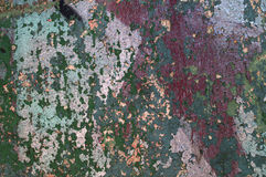 Texture painted concrete wall. The surface of the old cracked concrete wall with peeling paint Royalty Free Stock Image