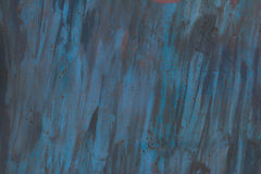 The texture of the painted iron. Blue stains, rust spots. Stock Images
