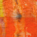 Texture of painted orange silk batik Royalty Free Stock Photography